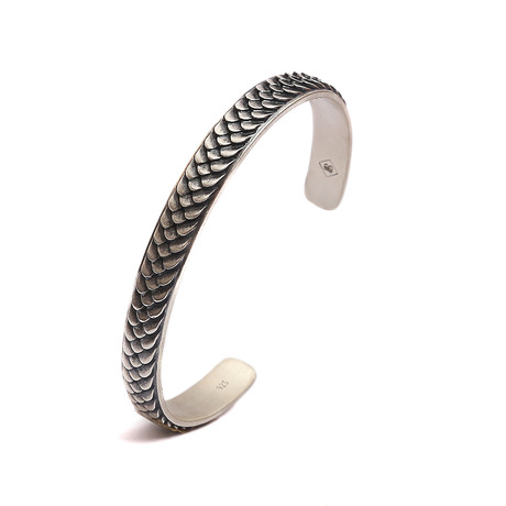 Scales of Fire Cuff Bracelet // White