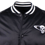 RTA // Skull Patch Bomber Jacket // Black (XL)