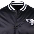 RTA // Skull Patch Bomber Jacket // Black (XS)