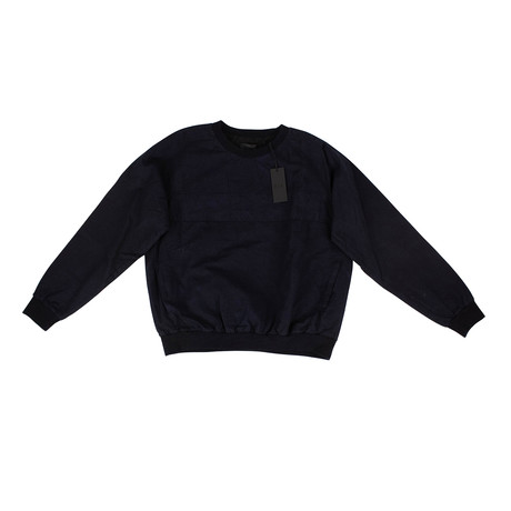 RTA // Cotton With Pockets Lined Pullover Sweater // Navy (XS)