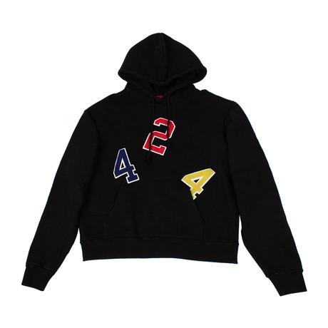 424 // Ransom Note Hoodie Sweatshirt // Black + Multicolor (XS)