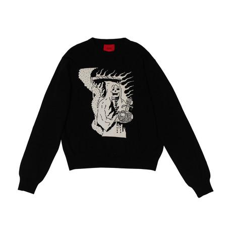 424 // Wool Blend Reaper Knit Sweater // Black (XS)