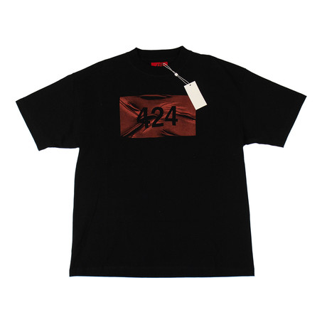 424 // Short Sleeve Cotton T-Shirt // Black (XS)