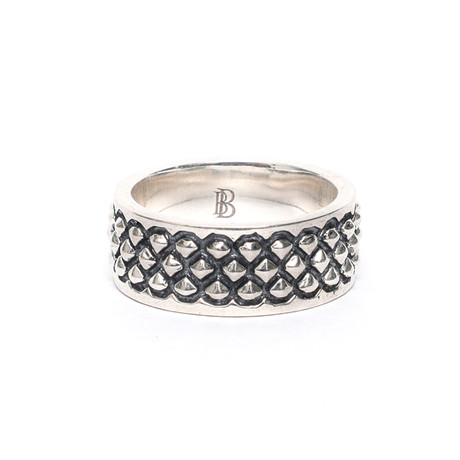 Rhombus Oxidized Ring // Silver (Size: 11)