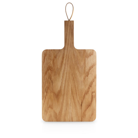 Wooden Cutting Board + Leather Strap (32cm x 24cm)