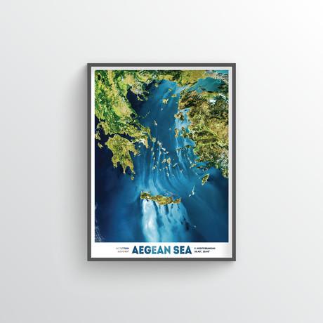 "Aegean Sea (18""W x 24""H)"