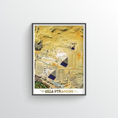 "Giza Pyramids (18""W x 24""H)"