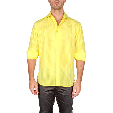 Richard Button-Up Shirt // Yellow (S)