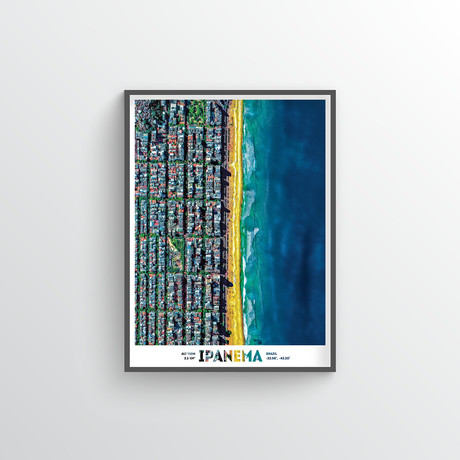 "Ipanema Beach (18""W x 24""H)"