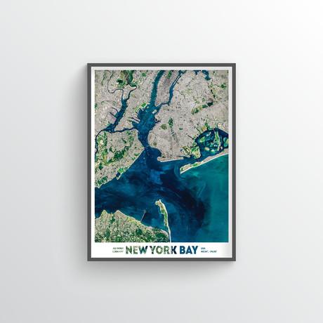 """New York Bay (18""""W x 24""""H)"""