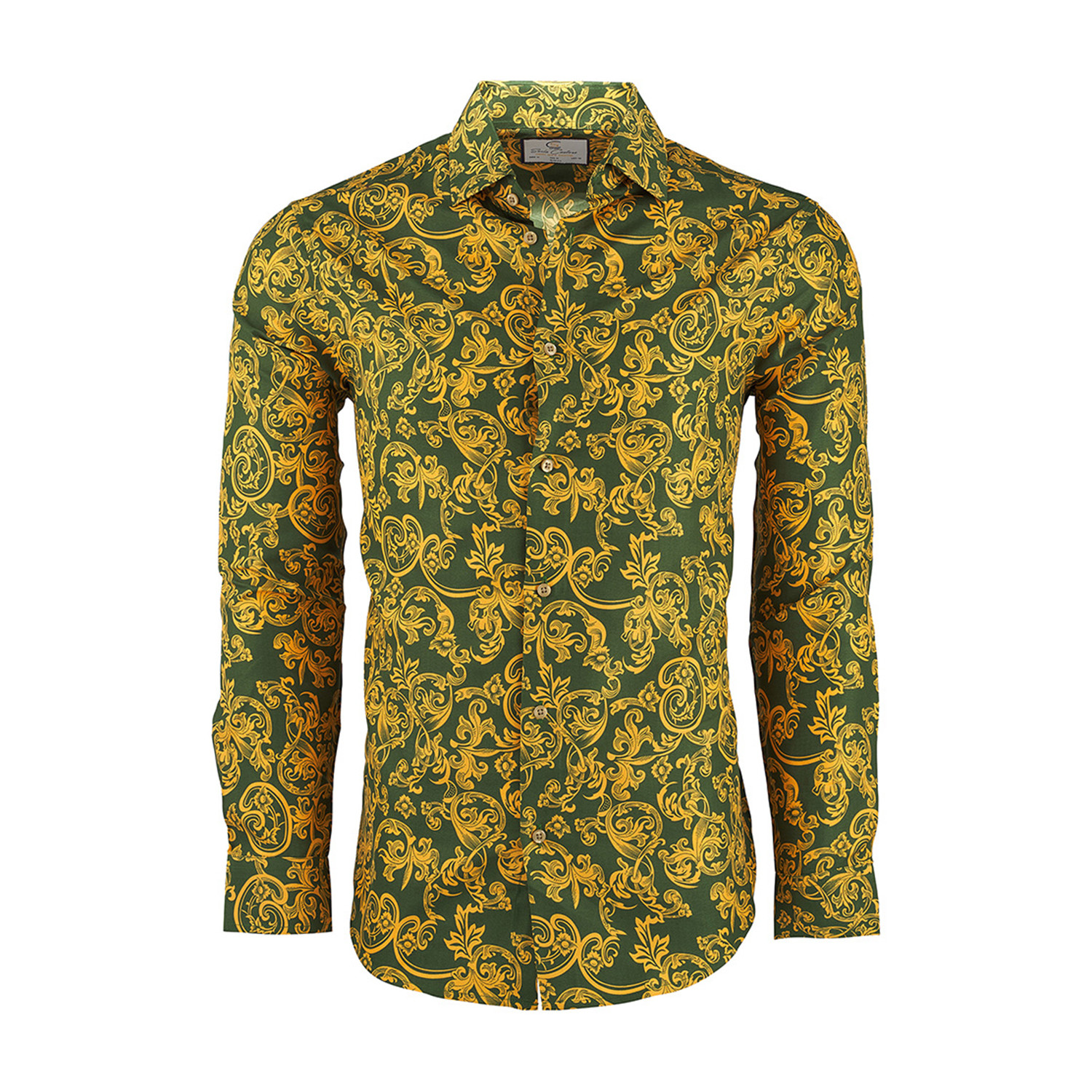 c6ee749d Berry Casual Long-Sleeve Button-Down Shirt // Green (M) - Suslo ...