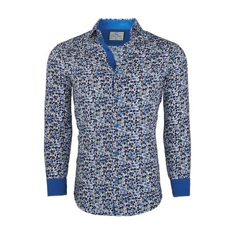 c77c4a60 Bryon Casual Long-Sleeve Button-Down Shirt // White + Royal (S
