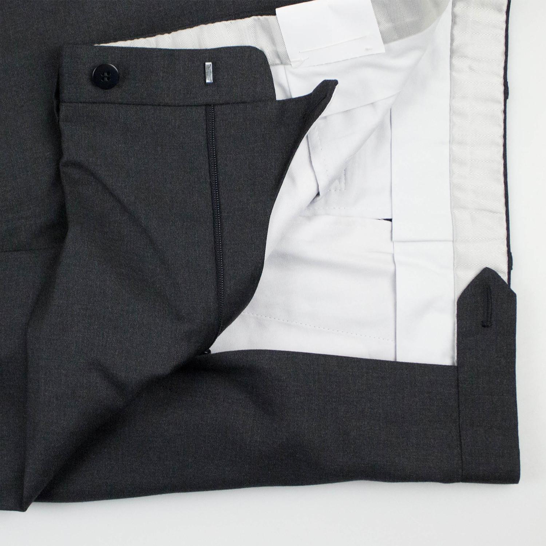 Brioni Mens Black Delta Wool Dress Pants 35 Pleat Front