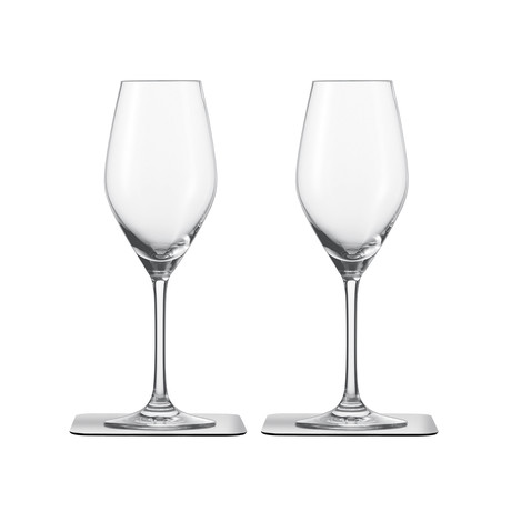 Champagne // Magnetic Crystal Glassware // Set Of 2