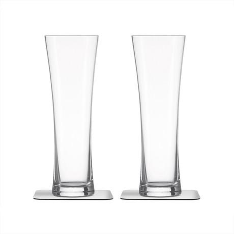 Beer // Magnetic Crystal Glassware // Set Of 2