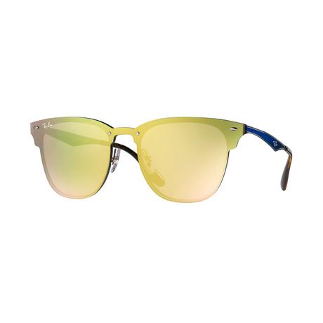 Unisex Blaze Clubmaster Sunglasses // Mirror