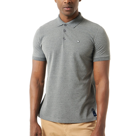 Solid Short Sleeve Polo // Anthracite (M)