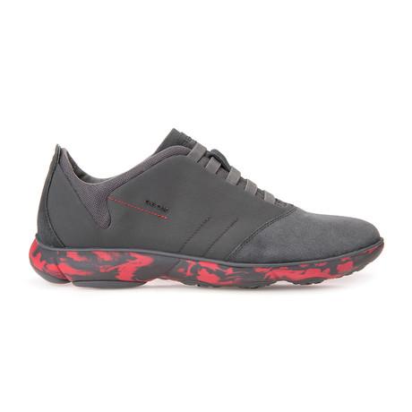 Nebula Sneakers // Dark Gray + Red (Euro: 39)