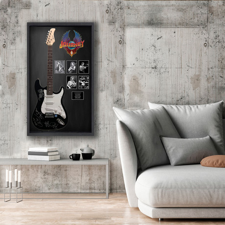 Signed + Framed Guitar // Journey