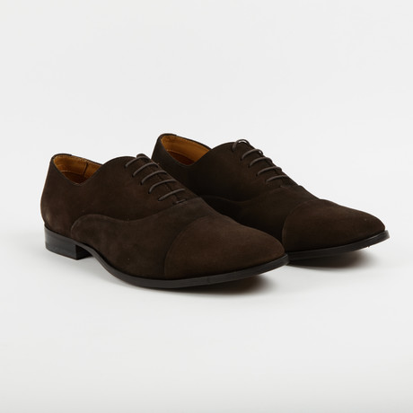 Deuce Suede Plain Toe Oxford Brown Us 9 5 Pair Of Kings