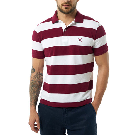 Short Sleeve Polo // Bordeaux (XS)