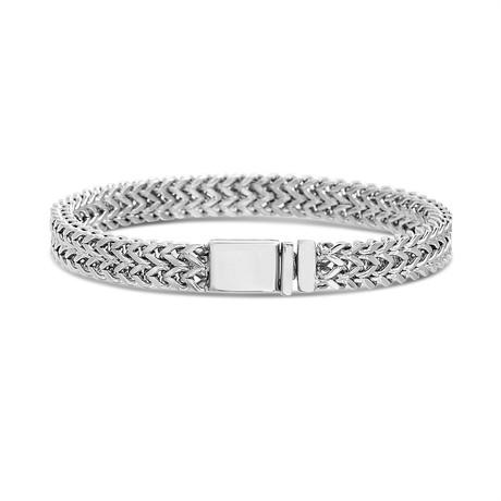 Wavy Mesh Link Bracelet // Silver