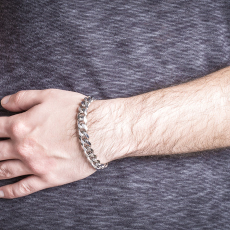 Cuban Chain Bracelet // Silver