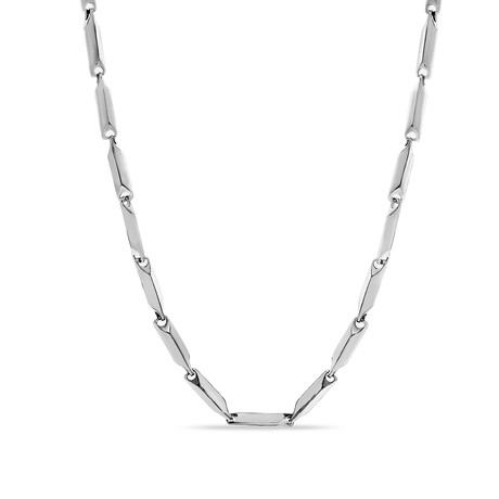 Steel Evolution // Beveled Edge Link Chain Necklace // Silver