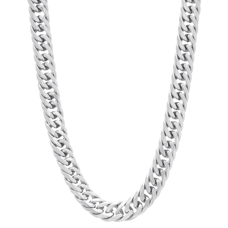 Curb Chain Necklace // Silver