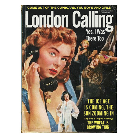 "The Clash ""London Calling"" Detective Magazine Pulp Mashup (8.5""W x 11""H x 0.1""D)"