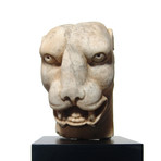 Roman Marble Head Of A Panther // 1st-2nd Century AD