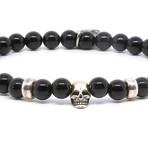 Achabal Bracelet // Black + Silver (Medium)
