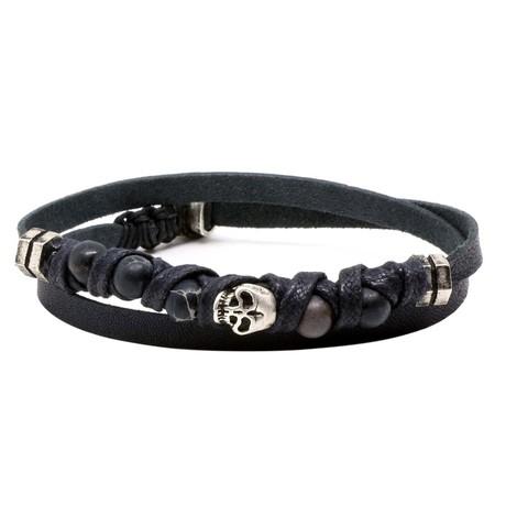Dussaud Bracelet // Silver + Black (L)