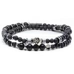 Dragones Bracelet // Silver + Black