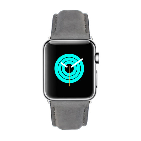 Suede Leather Apple Watch Band // Grey (38mm-40mm // Stainless Steel Clasp)