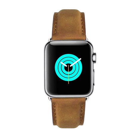 Suede Leather Apple Watch Band // Sand (38mm-40mm // Stainless Steel Clasp)