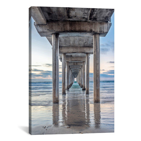 "Support Pillars, Ellen Browning Scripps Memorial Pier // Rob Tilley (18""W x 26""H x 0.75""D)"