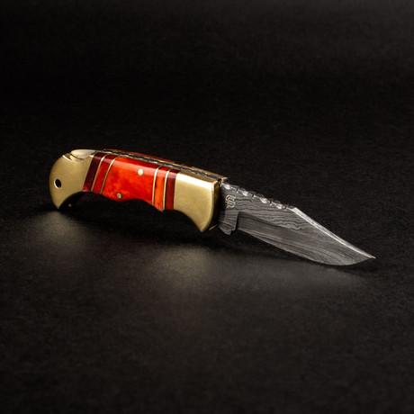 Hemingway Handmade Damascus Steel Pocket Knife