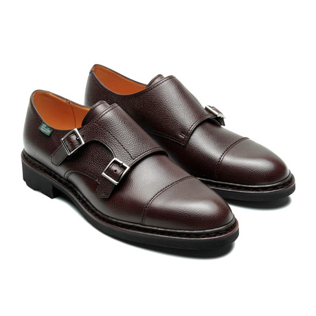 Poe Cap Toe Double Monkstrap // Moka Grain (US: 7)