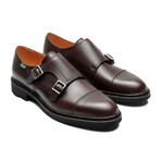 Poe Cap Toe Double Monkstrap // Moka Grain (US: 9.5)