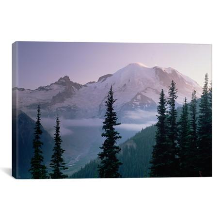 "Mt Rainier As Seen At Sunrise, Mt Rainier National Park, Was // Tim Fitzharris (26""W x 18""H x 0.75""D)"