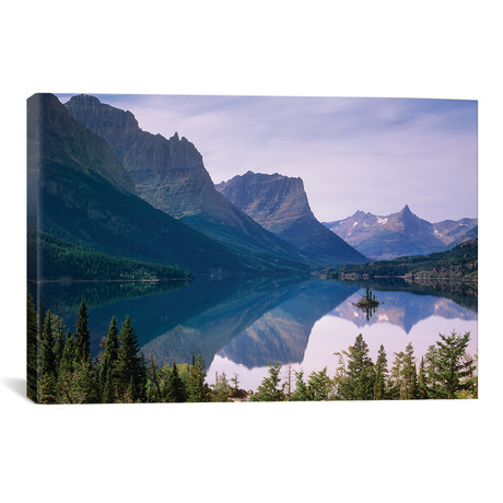 "Wild Goose Island In St Mary`s Lake, Glacier National Park, // Tim Fitzharris (26""W x 18""H x 0.75""D)"