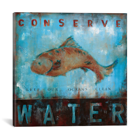 "Conserve Water // Wani Pasion (18""W x 18""H x 0.75""D)"
