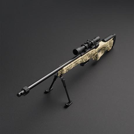 L96 Sniper Rifle 1:4 Scale Diecast Metal Model Gun + Scope + Bipod // ACU