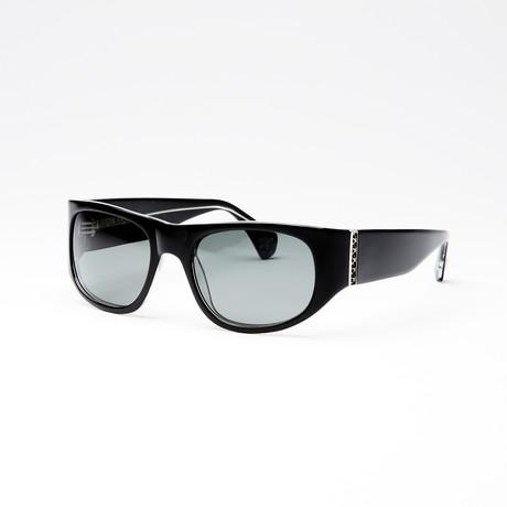 Unisex Midnight Polarized Sunglasses // Black Crystal