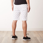 Anchor Printed Sweatshorts // White (S)