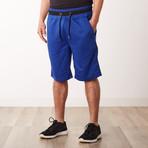 Two-Tone Faux Stitched Pocket Sweatshorts // Royal (S)