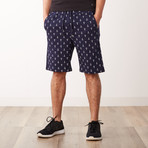 Anchor Printed Sweatshorts // Navy (2XL)