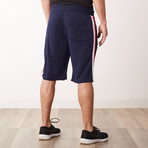 Racer Striped Sweatshorts // Navy (S)