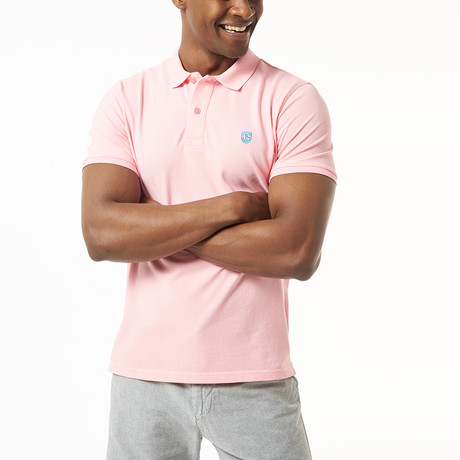 Lou Short-Sleeve Polo // Pink (M)